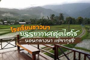 แบกเป้เที่ยว! บรรยากาศสุดไฮโซ นอนกลางนา เเช่จากุชชี่ @โรงเรียนชาวนา