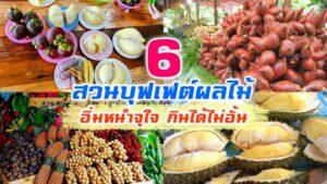 6 สวนบุฟเฟต์ผลไม้ อิ่มหนำกันให้จุใจ ราคาเดียวกินได้ไม่มีอั้น!!